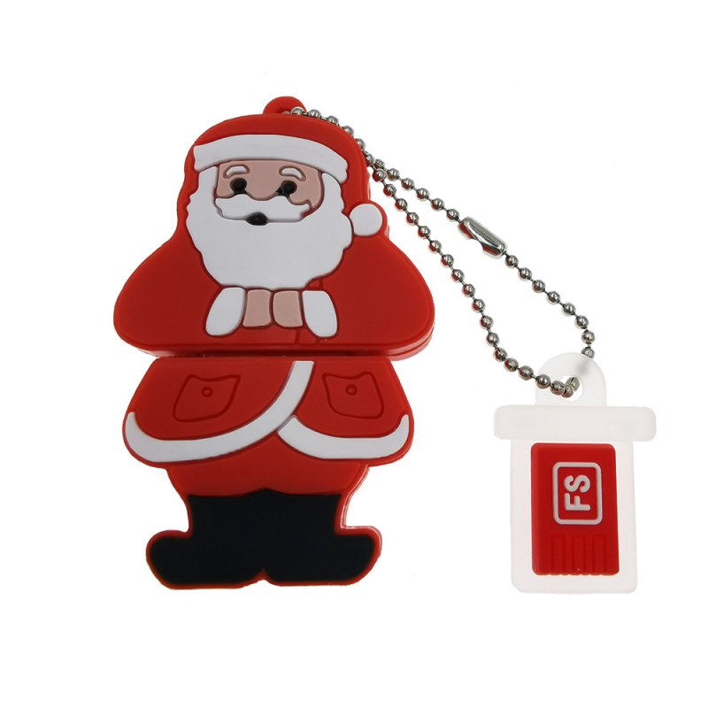 Christmas Santa Claus Design U Disk red_64GB