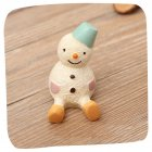 Christmas Seriers Cartoon Look Up Shape Resin Ornaments for Home Decor snowman
