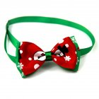 Christmas Series Bowknot Size Adjustable Collar for Pet Dog Teddy Supplies As shown_2#