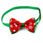Christmas Series Bowknot Size Adjustable Collar for Pet Dog Teddy Supplies As shown_5#