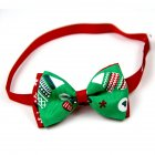 Christmas Series Bowknot Size Adjustable Collar for Pet Dog Teddy Supplies As shown_3#