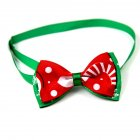 Christmas Series Bowknot Size Adjustable Collar for Pet Dog Teddy Supplies As shown_4#