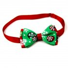 Christmas Series Bowknot Size Adjustable Collar for Pet Dog Teddy Supplies As shown_8#