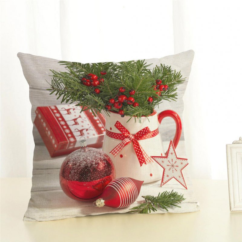 Christmas Series Cushion Cover Pillowcase Seat Sofa Pillow Cover Square Cushion Cover for Party Decoration 4_45*45cm