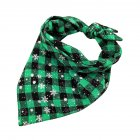 Christmas Series Printing Triangular Scarf for Pet Dogs Wear Green snowflake