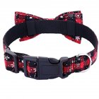 Christmas Snowflower Red Bowknot Collar for Pet Small Medium Large Dogs red_S