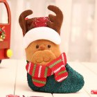 Christmas Stocking Decorations Children Gift Candy Bag Socks Tree Decoration Small socks moose