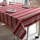 Christmas Tablecloth w. Cartoon Deer Print