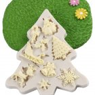 Christmas Tree Shape Silicone Mold Fondant Cake Kitchen Decorating DIY Tool gray
