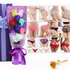 Christmas Valentine's Day Surprise Gift for Wife Girlfriend Birthday Gift Rose Underwear Bouquet Gift Box Large size 6 purple boxes (about 105-125 kg)