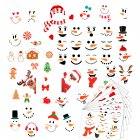Christmas Wall Stickers Slef Adhesive Cartoon Snowman Pattern Window Room Decoration 9pcs/set