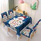 Christmas Waterproof Tablecloth/Chair Cover Dining Room Stretch Chair Covers Tablecloth 140*180cm