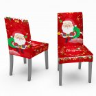 Christmas Waterproof Tablecloth Chair Cover Dining Room Stretch Chair Covers Chair cover 1PC