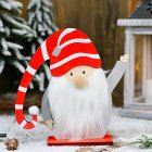 Christmas Wooden Ornament Santa Claus Shape Cartoon Doll Decoration for Home Tabletop