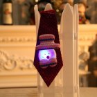 Christmas Xmas Decorations Sequins Light Tie Gifts Bag Filler for Adult Kids Glowing snowman