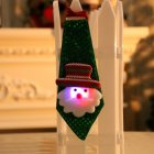 Christmas Xmas Decorations Sequins Light Tie Gifts Bag Filler for Adult Kids Glowing old man