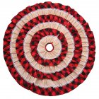 Christmas Xmas Party Decoration Props Plaid Burlap Christmas Tree Skirt Mat Plaid burlap cake tree skirt