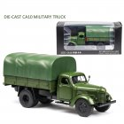 Classic 1:32 CA10 Truck Alloy Model Simulation Die-cast Sound Light Transport Model Collection Gifts CA10 Truck with Tent
