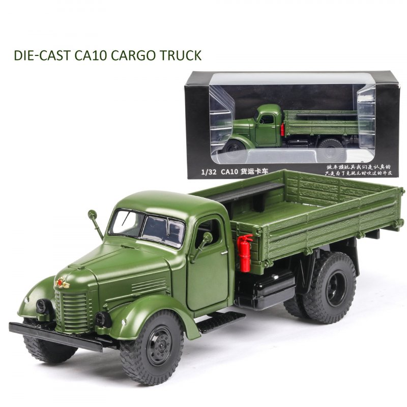 Classic 1:32 CA10 Truck Alloy Model Simulation Die-cast Sound Light Transport Model Collection Gifts CA10 Truck