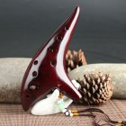 Classic 12 Hole Ceramic Ocarina Woodwind Instruments Flute red