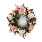 Classic Artificial Simulation Flowers Garland for Home Room Garden Lintel Decoration Roses Peonies   Pink