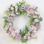Classic Artificial Simulation Flowers Garland for Home Room Garden Door Decoration Light purple