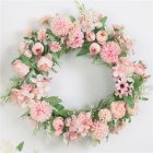 Classic Artificial Simulation Flowers Garland for Home Room Garden Door Decoration Light pink