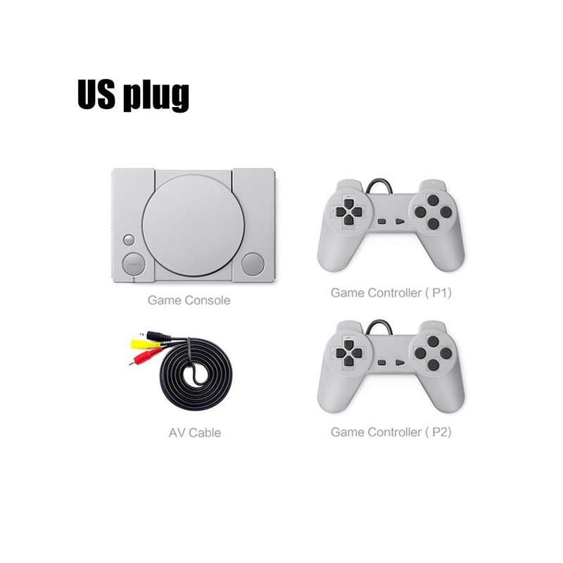 Classic Game Console 8-bit for PS1 Mini Home 620 Action Game Enthusiast Entertainment System Retro Double Battle Game Console US plug