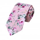 Classic Men Tie Fashion Business Flower Printing Necktie for Wedding Party