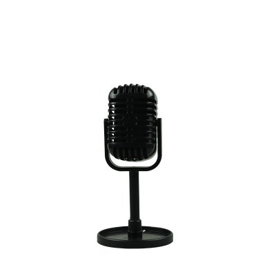 Classic Retro Dynamic Vocal Microphone Vintage Style Mic Universal Stand Compatible Live Performance Karaoke Studio Recording Black