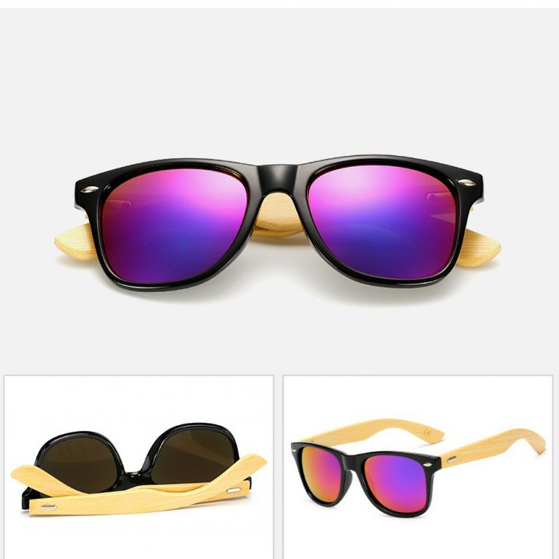 Classical Colorful Film Moso Bamboo Leg Sunglasses