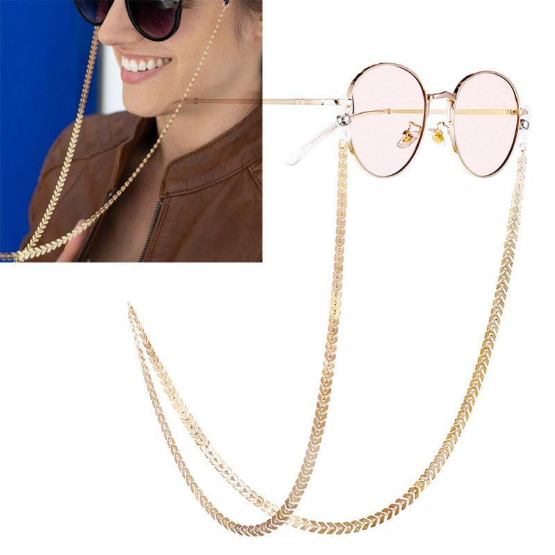 Classical Eyeglasses Chain Decoration Accessory Antiskid Eyeglasses Chain Gold