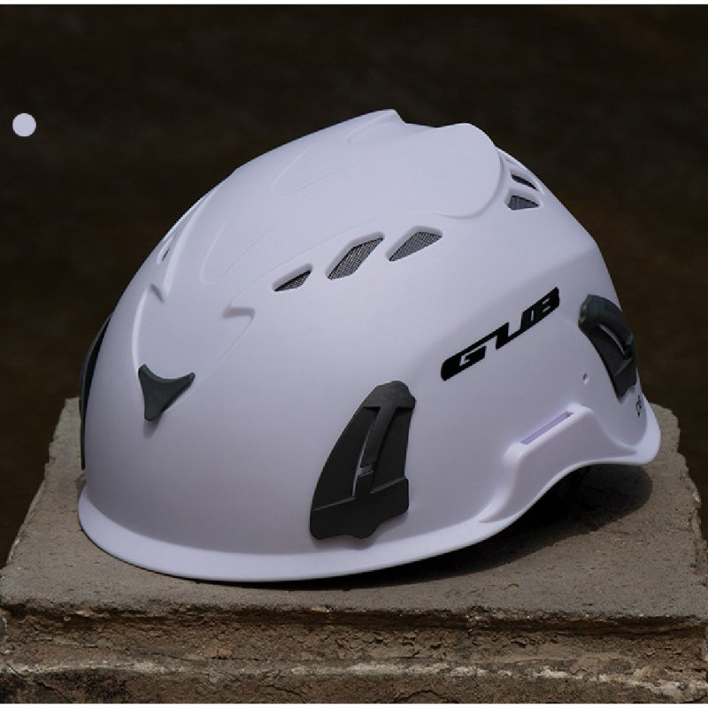 Climbing Helmet Professional Mountaineer Rock MTB Helmet Safety Protect Outdoor Camping Hiking Riding Helmet White (56cm-62cm)