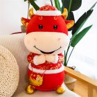 Cloth Ox Mascot Shape Doll Kids Stuffed Toy For Home New Year Decoration #6_30cm