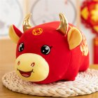 Cloth Ox Mascot Shape Doll Kids Stuffed Toy For Home New Year Decoration #1_25cm