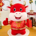 Cloth Ox Mascot Shape Doll Kids Stuffed Toy For Home New Year Decoration #5_25cm