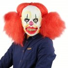 Clown with Red Pigtails Mask