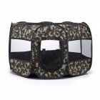 Collapsible Pet Octagonal Tent Pet Octagonal Fence Oxford Cloth Pet Octagonal Cage Cat Dog Cage Pet   Green camouflage_S