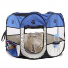 Collapsible Pet Octagonal Tent Pet Octagonal Fence Oxford Cloth Pet Octagonal Cage Cat Dog Cage Pet   Blue and white_S