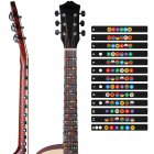 Colorful Guitar Fretboard Note Decal Beginners Fingerboard Sticker Label Map Frets Scale  Color