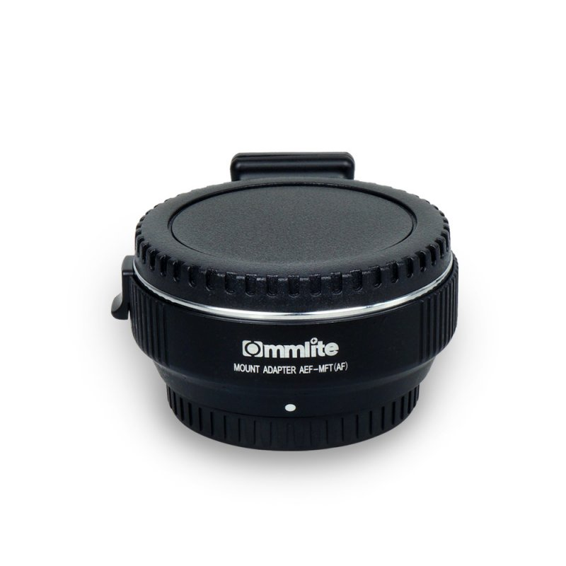 Commlite CM-AEF-MFT Electronic AF Lens Adapter Ring for Canon EF/EF-S Lens to Micro (M4/3) Cameras black