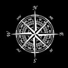 Compass Nautical Navigate Style Vinyl Car-styling Decal Motorcycle Car Sticker white