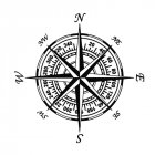 Compass Nautical Navigate Style Vinyl Car-styling Decal Motorcycle Car Sticker black