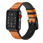 Compatible with Apple Watch Band 42mm 44mm Leather Band Replacement Compatible with Apple Watch Series 4 Series 3 Series 2 Series 1 Sport Edition Orange_38-40MM