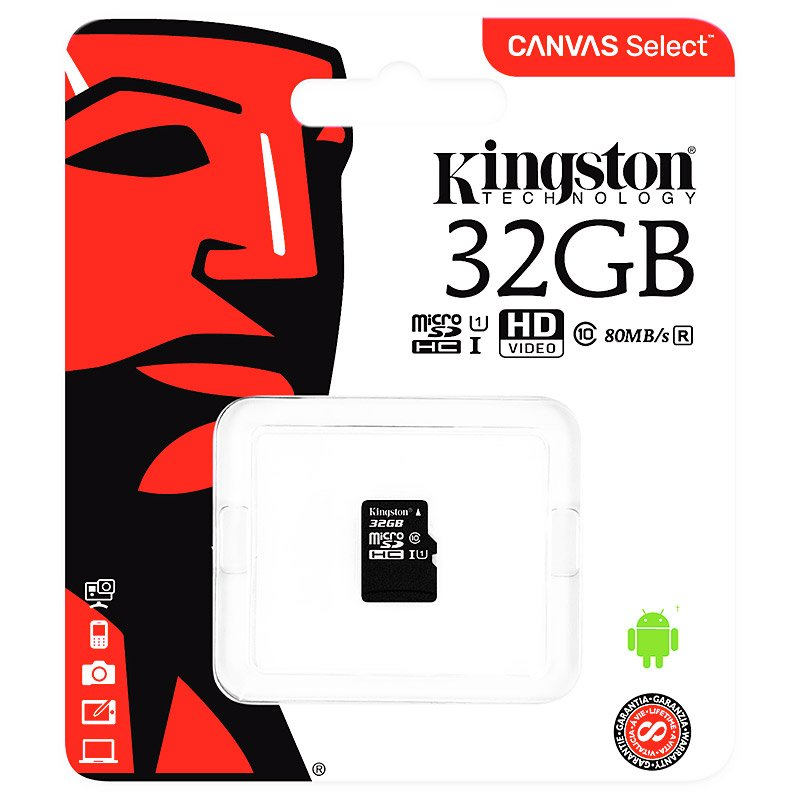 Kingston C10 Micro SDHC 32GB Memory Card