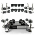 Complete 24 Camera Security kit with 1TB DVR  12 indoor dome cameras and 12 outdoor cameras  perfect for office and home security