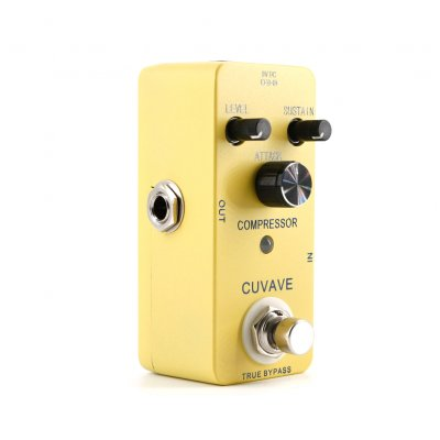 Compressor Looper Record Delay Overload Reverb Guitar Effect Pedal Guitar Stompbox yellow