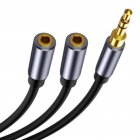 Computer Headphone Splitter Cable 3.5mm Female to 2 Male 3.5mm Audio Connector Male to Double Female 3.5 AUX Audio Adapter