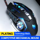 Computer Mouse English Edition Mechanical Game Wired Mouse USB Mouse For Desktop Computer Black