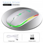 Computer Mouse G852 Rechargeable Silent Bluetooth 2.4g Dual-mode Wireless Mouse Portable Mouse For Office Silver